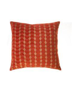 Housse de coussin en velours orange imprimée 45 x 45 cm Noa