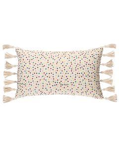Coussin en coton multicolore à franges 30 x 50 cm Star