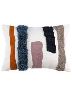 Coussin en coton à motifs colorés 35 x 50 cm Strip