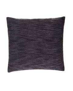 Housse de coussin en coton gris carrée 45 x 45 cm Teo