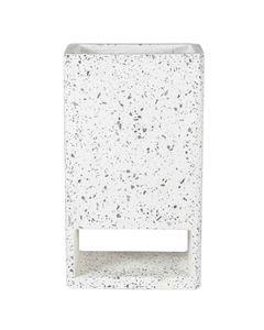 Cache-pot rectangulaire en terrazzo blanc 70 cm Dian