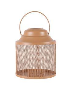 Lanterne métal orange h22,5 cm Eden