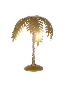 Palmier décoratif métal doré h 22 cm Expo
