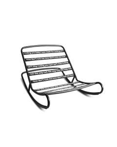 Rocking-chair noir Rock n Roll