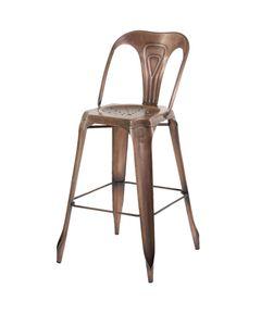 Chaise de bar industrielle en métal Indus