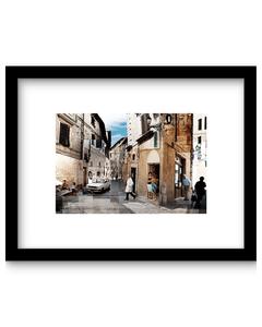 Affiche italiaans Straatje 61 x 41 cm Urban Cotton