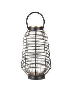 Lanterne en métal noir et dorée 41 cm Joya