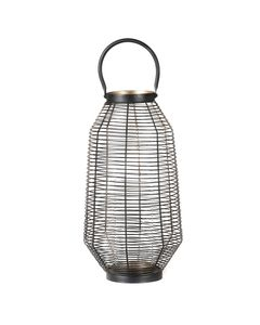Lanterne en métal noir et dorée 50 cm Joya