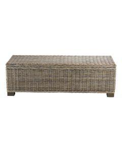 Bout de lit coffre en Kubu 130 cm