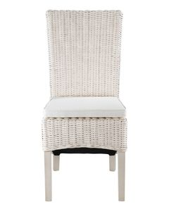 Chaise en demi Kubu blanc et galette