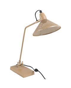 Lampe de bureau métal rose nude Desk
