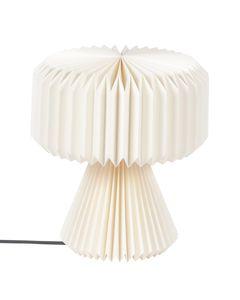 Lampe en papier origami blanche ronde Polka