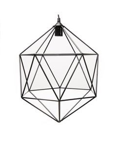 Suspension geometrique metal noir Ruby