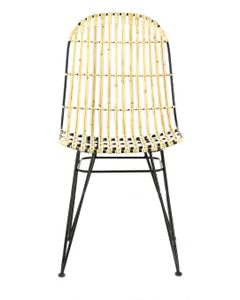 Chaise rotin et métal Melody