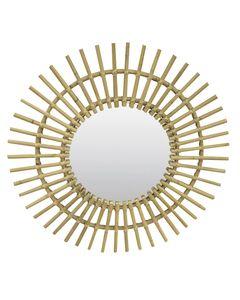 Miroir rotin naturel Bora