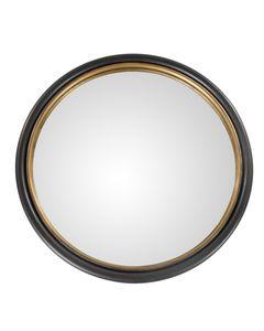 Miroir époxy gris anthracite et doré Ø 65 THOR