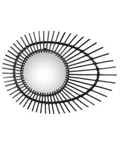 Miroir rotin noir Zanzi