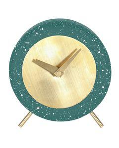 Horloge en béton effet terrazzo vert canard Muzz