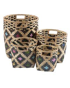Paniers en bamboo NARA (set de 4)