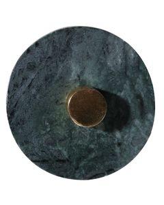Patère en marbre et laiton Marble