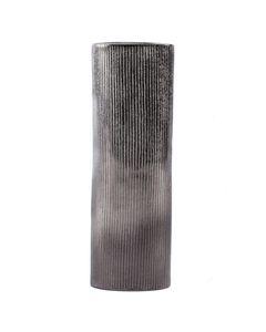 Vase en métal strillé noir Steel