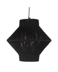Suspension en corde noire triangulaire ROPE
