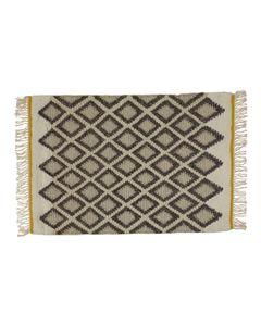 Tapis laine de Nouvelle Zélande écru/gris 230 x 160 cm Sina