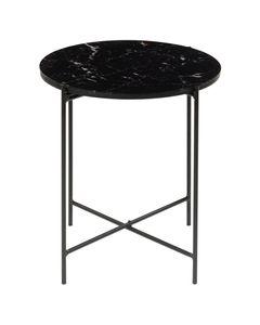 Bout de canapé décor marbre noir VICKY