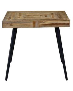 Table teck et métal 80 x 73 cm Woody