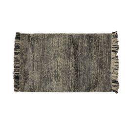 Tapis laine de Nouvelle-Zélande gris chiné 170 x 120 cm Chandani