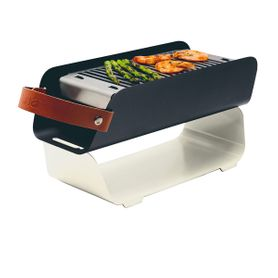Barbecue portable en métal beige