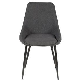 Chaise en tissu gris foncé pieds métal BARI
