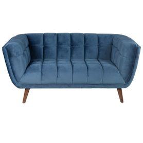 Canapé 2 places en velours bleu foncé Beryl
