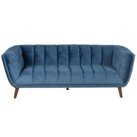 Canapé 3 places en velours bleu foncé Beryl