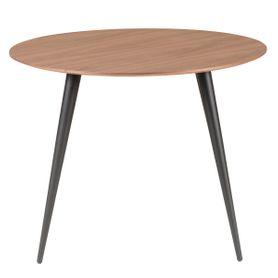 Table repas ronde 100 cm en noyer CALYPSO