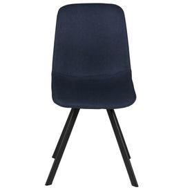 Chaise en tissu bleu Carl (lot de 2)