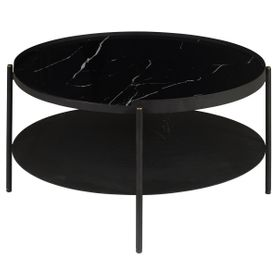 Table basse ronde noir COMPLICE