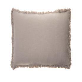 Coussin en coton taupe 45 x 45 cm Enes