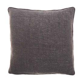 Coussin en coton et Lurex gris 45 x 45 cm Eris