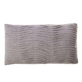 Coussin rectangulaire 50 x 30 cm en tissu gris clair Hibis