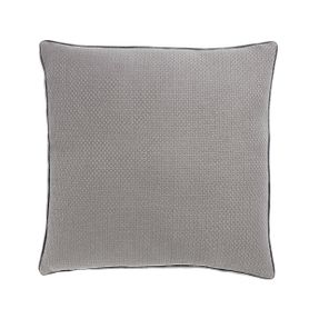 Coussin en coton gris carré 60 x 60 cm Isak