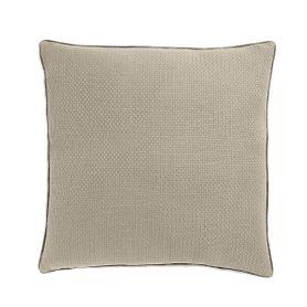 Coussin en coton beige carré 60 x 60 cm Isak