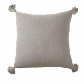 Coussin beige coton carré 50 x 50 cm Laly