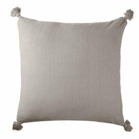 Coussin en coton beige carré 80 x 80 cm Laly