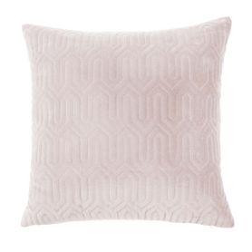 Coussin en velours rose carré 50 x 50 cm Maia