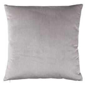 Coussin gris clair en velours 45 x 45 cm Moha