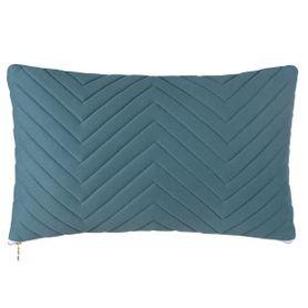 Coussin en coton bleu motifs géométriques Neo