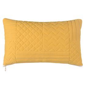 Coussin en coton jaune motifs géométriques Neo