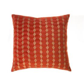 Coussin en velours orange imprimé 45 x 45 cm Noa