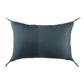 Coussin en coton rectangulaire bleu 35 x 50 cm Roma